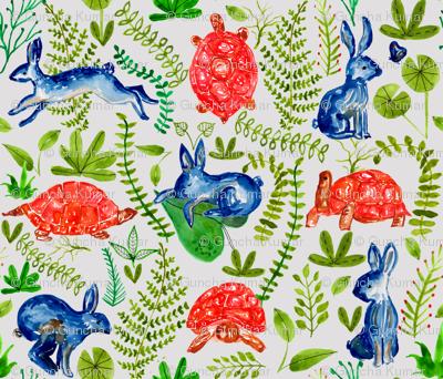 hare n tortoise pattern 21x18