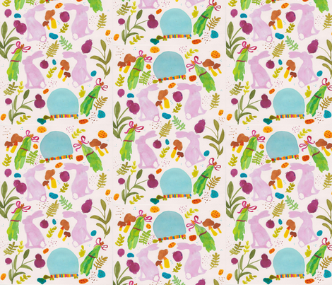 tortoise_the_hare01 fabric by annelise_anne on Spoonflower - custom fabric