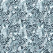 Botanical leaves pattern. Nature design. Grey.
