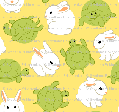 hares and tortoises (yellow)