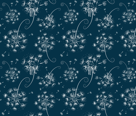 Delicate dandelions fabric by avisnana on Spoonflower - custom fabric