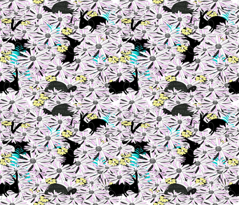 Tortise & Hare in the Meadow fabric by gracelillydesigns on Spoonflower - custom fabric