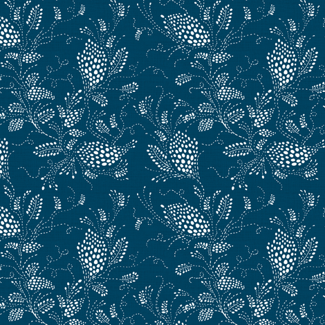 Miss Everdeen, PeacockBlue fabric by thistleandfox on Spoonflower - custom fabric
