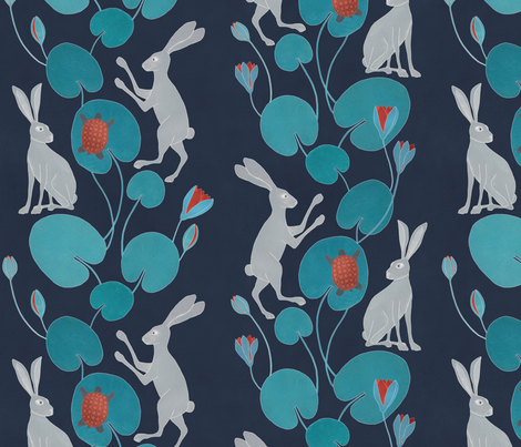 Slow walk fabric by lavish_season on Spoonflower - custom fabric