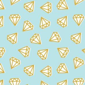 diamonds  on light blue