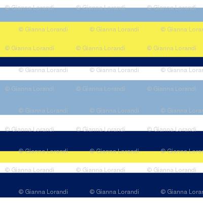 Blue yellow stripes