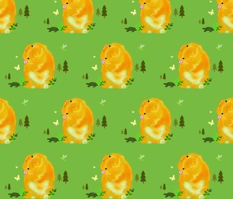 rabbitturtle-ed fabric by suzy_q_designs_studio on Spoonflower - custom fabric