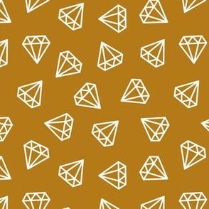 diamonds - dark mustard
