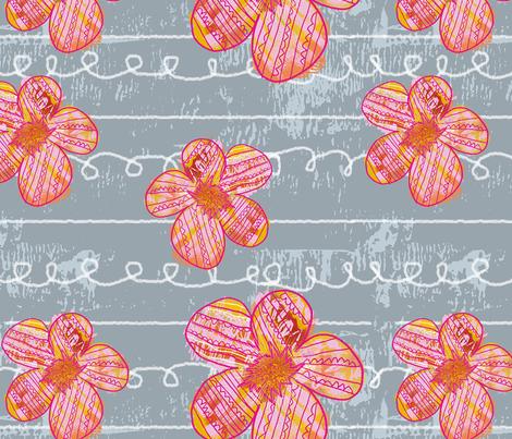 Funky Floral fabric by tomatodumplings on Spoonflower - custom fabric