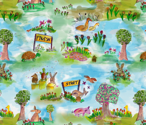 Game in the park fabric by blijmaker on Spoonflower - custom fabric
