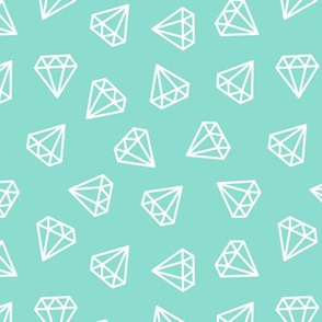 diamonds - aqua