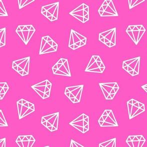diamonds - dark pink