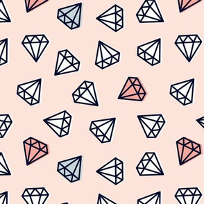 diamonds - light pink