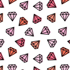 multi diamonds - pink
