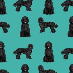 labradoodle fabric - cute black labradoodles design