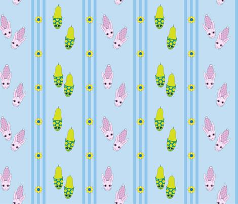 The Slipper Race fabric by lunapetuna on Spoonflower - custom fabric