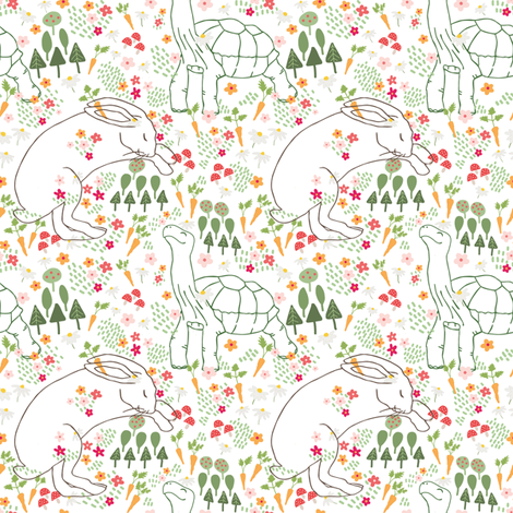 Tortoise and the Hare fabric by mayra on Spoonflower - custom fabric