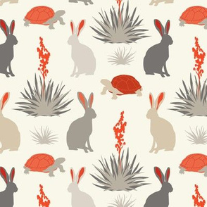 Tortoise & Hare - Small -  Red, Ivory