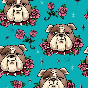 Bulldogs and Roses - LARGE