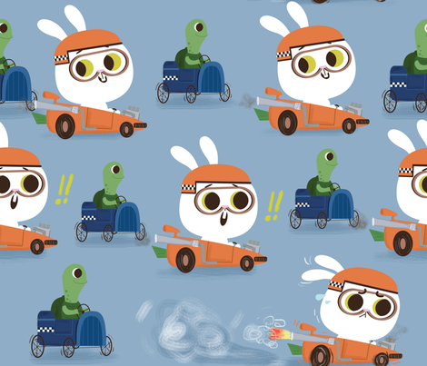 racing game fabric by dramacatz on Spoonflower - custom fabric