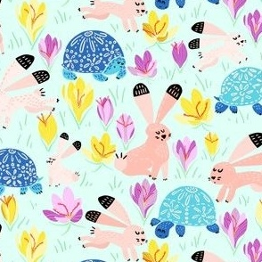 Spring with Tortoise and Hare (mint)