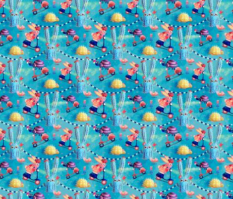 Race through Oaxaca Desert fabric by monika_suska on Spoonflower - custom fabric