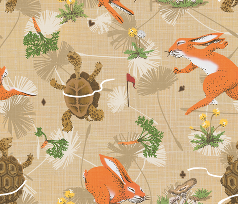 The tortoise's victory fabric by se_kyoung on Spoonflower - custom fabric