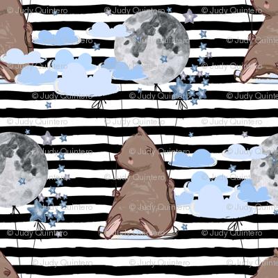 "8"" Sky is the Limit Bear - Black Stripes"