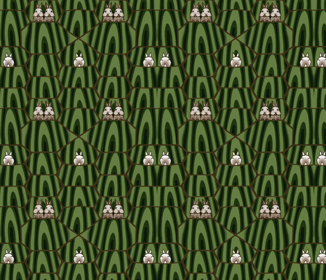 The Tortoise and the Hare fabric by doris_rguez on Spoonflower - custom fabric