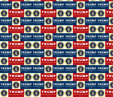 Presidential Seal  Donald Trump fabric by lorlajo on Spoonflower - custom fabric
