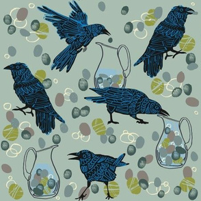 crow and pitcher_3