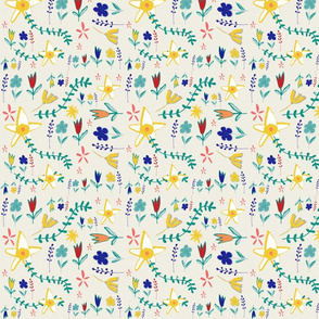 Tortoise and the hare floral beige