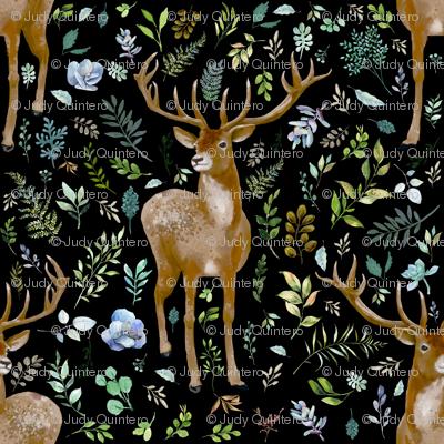 "4"" Deer Summer Foliage - Black"