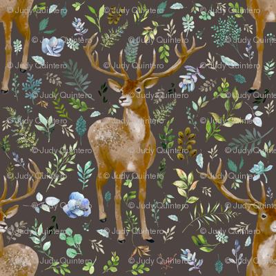 "4"" Deer Summer Foliage - Brown"