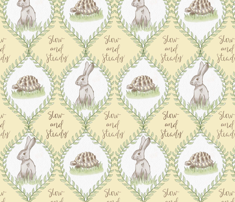 Slow and steady fabric by magnoliaheatherart on Spoonflower - custom fabric