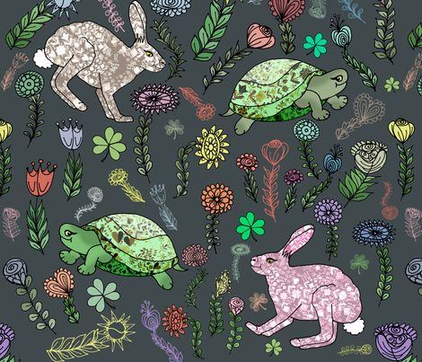 Race Amongst the Wildflowers fabric by irishvikingdesigns on Spoonflower - custom fabric