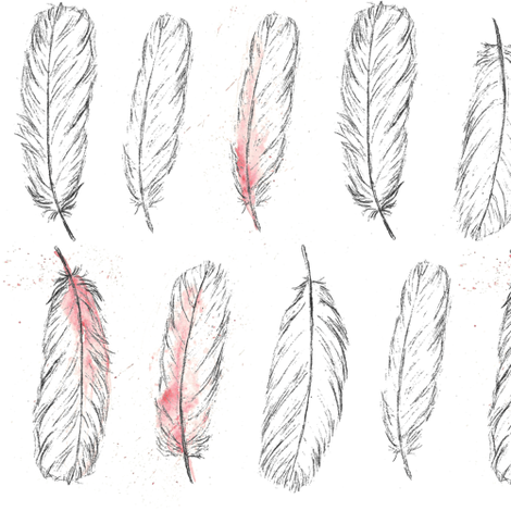 spoonbill feathers fabric by lancashire on Spoonflower - custom fabric
