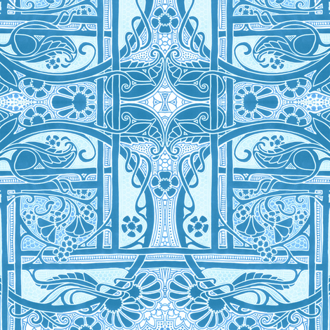 Blue Spring Morning fabric by edsel2084 on Spoonflower - custom fabric
