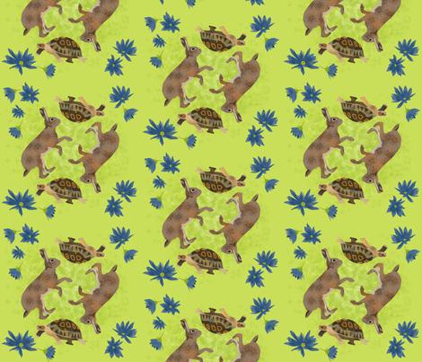 Tortoise & Hare fabric by michaelakobyakov on Spoonflower - custom fabric