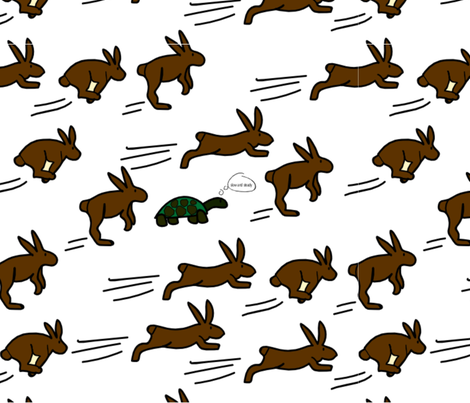 slow and steady 2018 fabric by miriamcarnase on Spoonflower - custom fabric