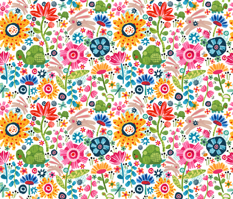 Tortoise And Hare fabric by sarah_treu on Spoonflower - custom fabric