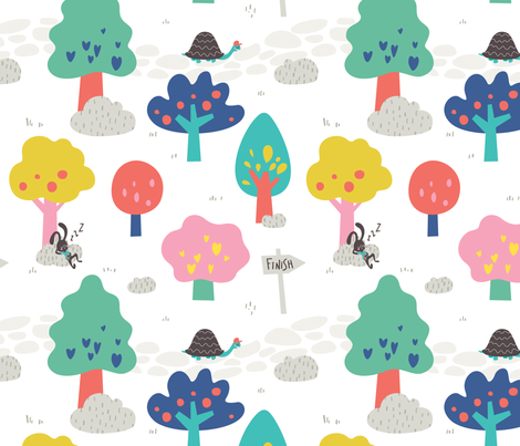 The Tortoise & the Hare by UnPato fabric by unpato on Spoonflower - custom fabric