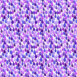 Purple Raindrops