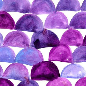 Watercolor mermaid scales - purple