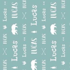 Woodland Boys Personalized Name // Turquoise - Lucas