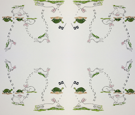 Bunny Burns up the Road fabric by catherine's_colors on Spoonflower - custom fabric