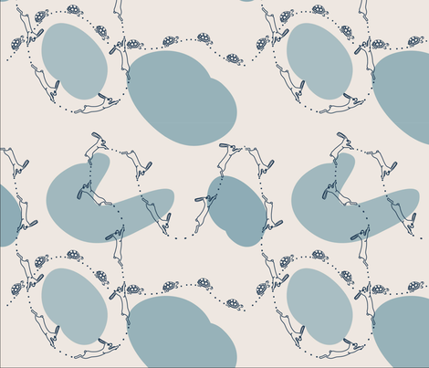 pale tortoise and hare fabric by phein on Spoonflower - custom fabric