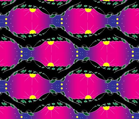 Sea Turtle Nesting Cycle fabric by monsteradeliciosamia on Spoonflower - custom fabric