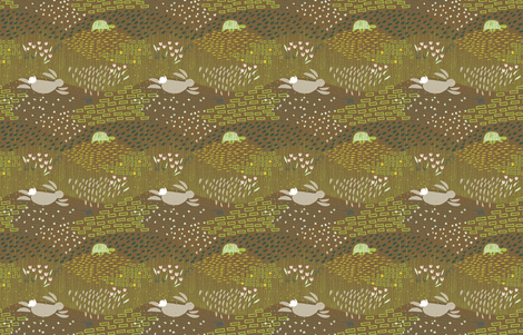 In the Meadows M+M Nutmeg by Friztin fabric by friztin on Spoonflower - custom fabric