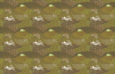In the Meadows M+M Nutmeg by Friztin fabric by friztin on Spoonflower - custom fabric